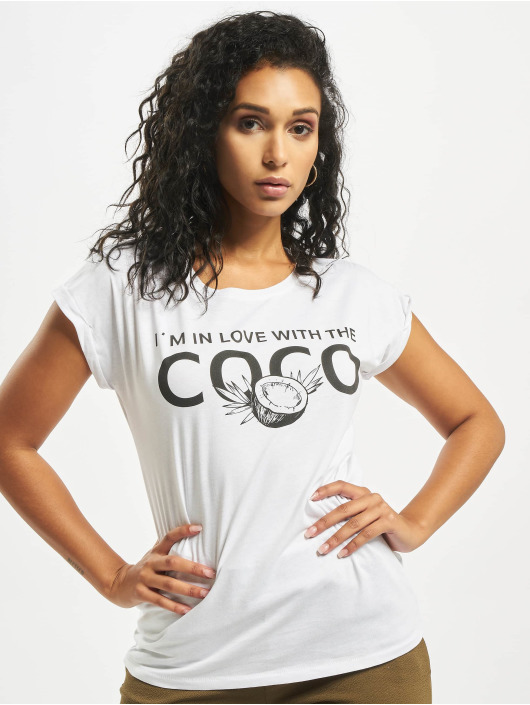 Mister Tee T-shirt Coco vit