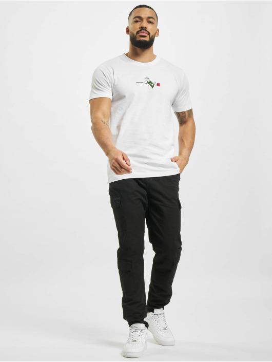 Mister Tee T-shirt Rose Love vit