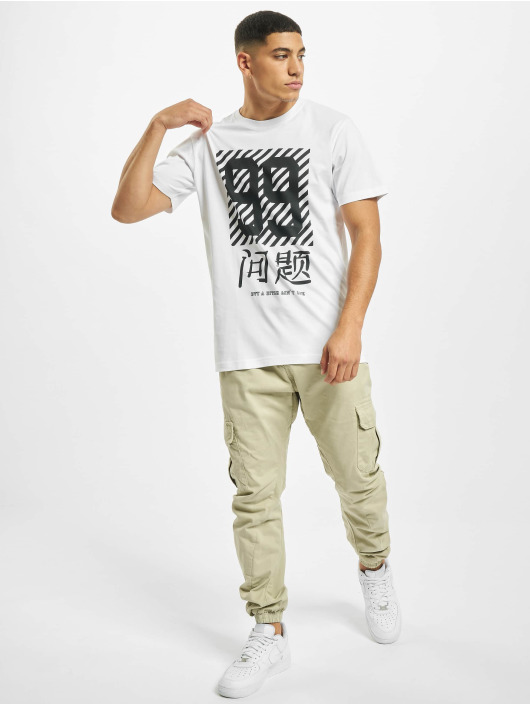 Mister Tee T-Shirt Chinese Problems weiß