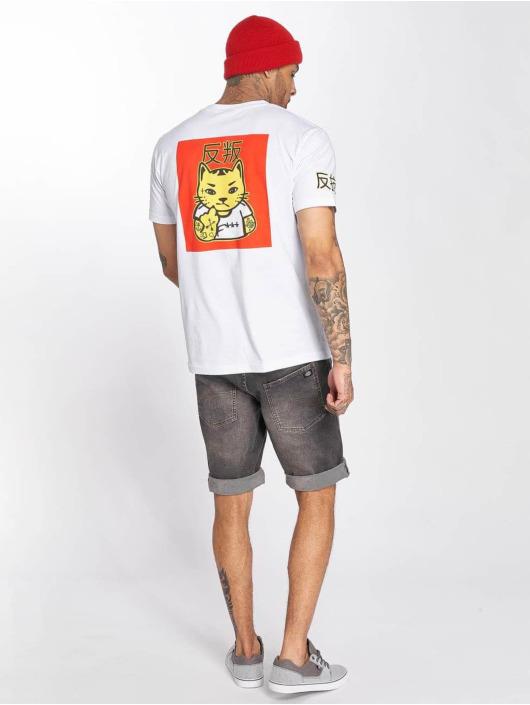 Mister Tee T-Shirt Asia Cat weiß