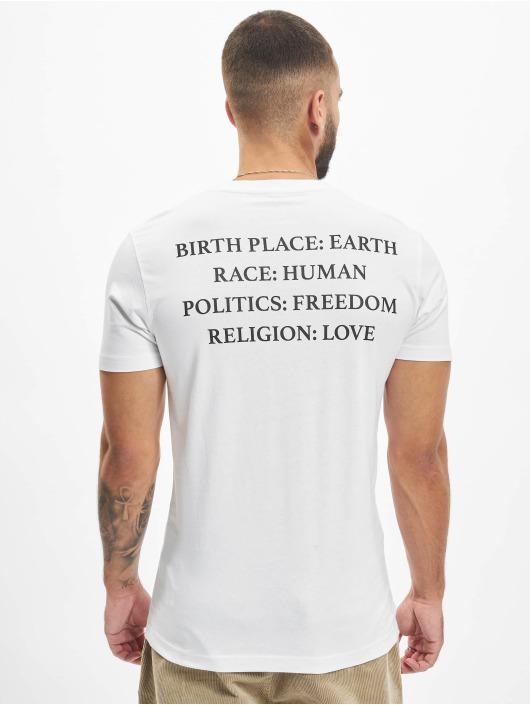 Mister Tee T-Shirt Heart weiß