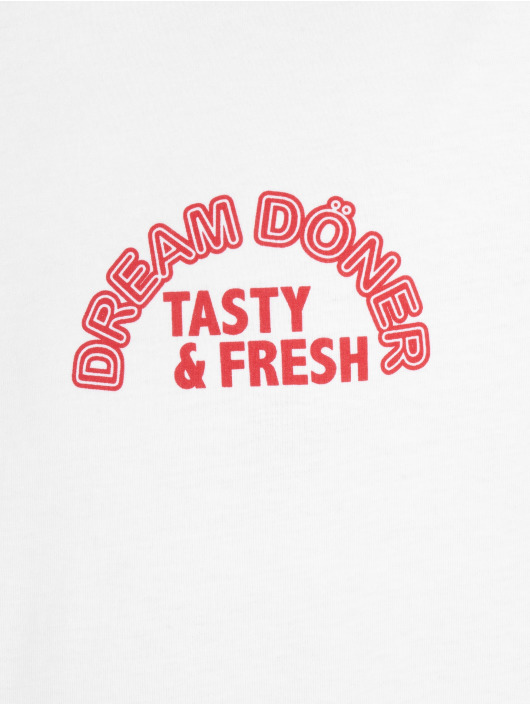 Mister Tee T-Shirt Dream Döner weiß