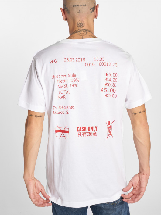 Mister Tee T-Shirt Cash Only weiß