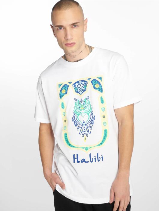 Mister Tee T-Shirt Habibi Owl weiß
