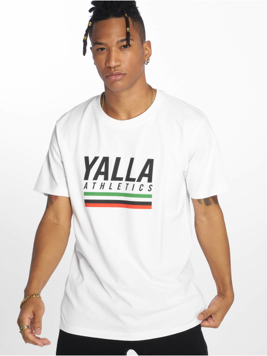 Mister Tee T-Shirt Yalla Athletic weiß