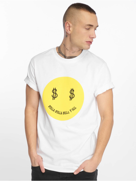 Mister Tee T-Shirt Dolla Smile weiß