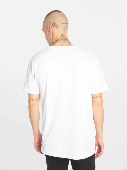 Mister Tee T-Shirt Waving Cat weiß