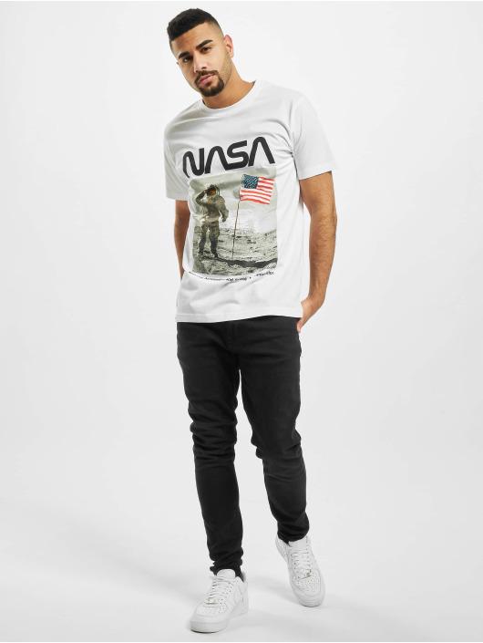 Mister Tee T-Shirt NASA Moon Man weiß