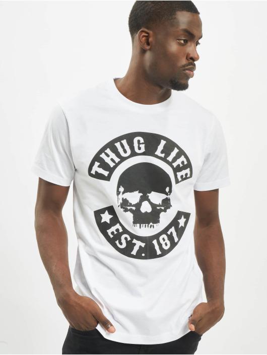 Mister Tee T-Shirt Thug Life Skull weiß