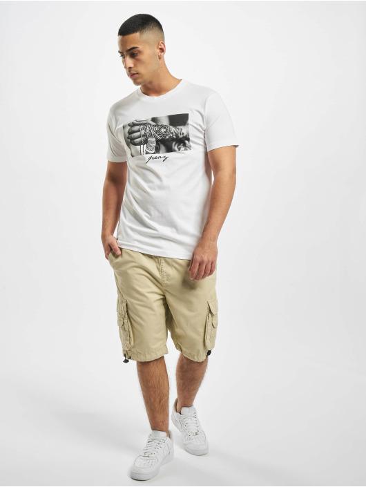 Mister Tee T-Shirt Pray 2.0 weiß