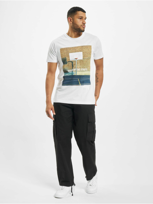 Mister Tee T-Shirt Raised By The Streets weiß
