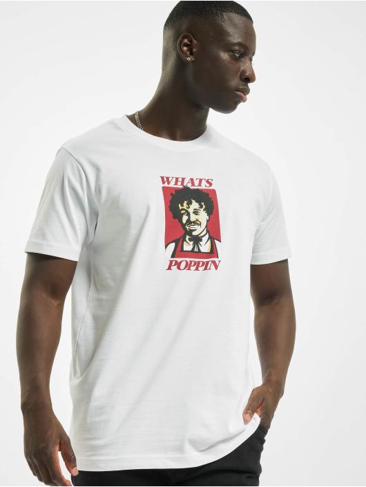 Mister Tee T-Shirt Whats Poppin weiß