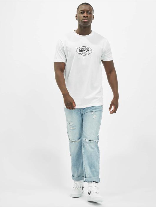 Mister Tee T-Shirt Nasa Globe weiß