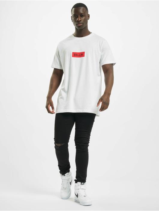 Mister Tee T-Shirt Ballin Box weiß