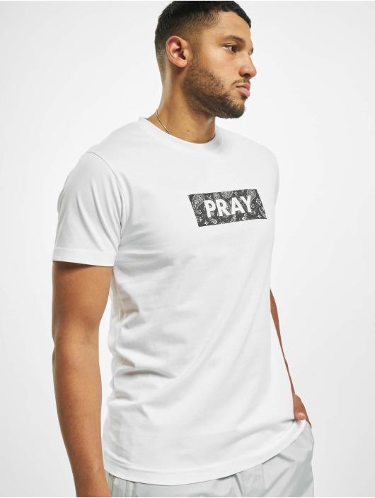 Mister Tee T-Shirt Bandana Box Pray weiß