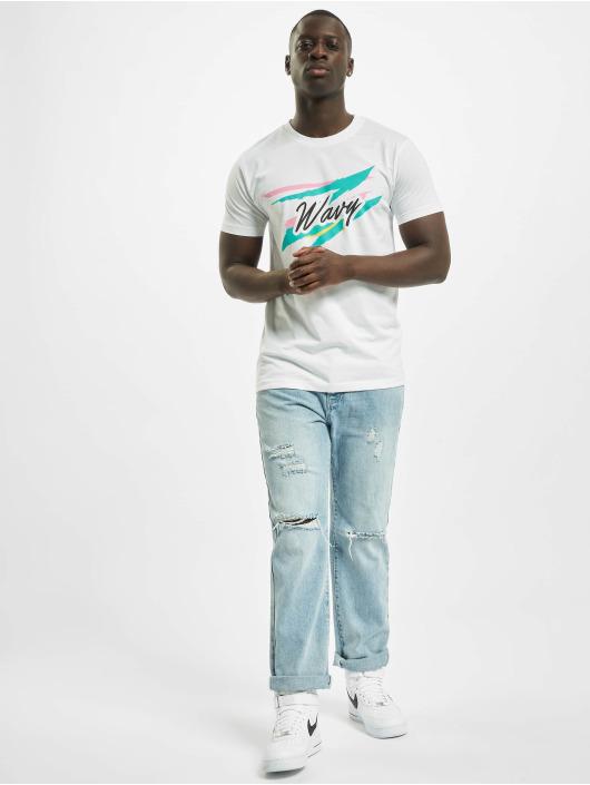Mister Tee T-Shirt Wavy weiß