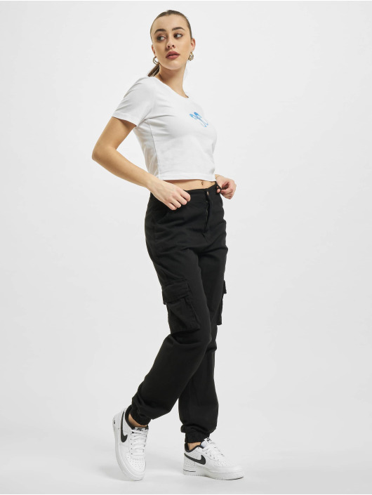Mister Tee T-Shirt Butterfly Cropped weiß