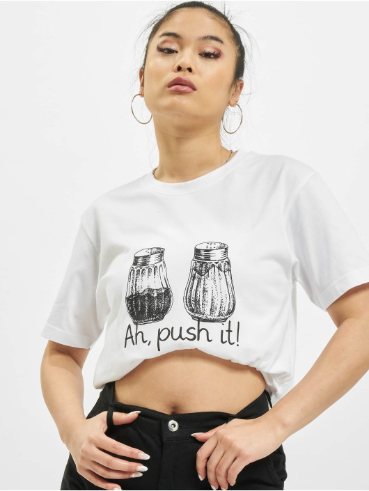 Mister Tee T-Shirt Push It weiß
