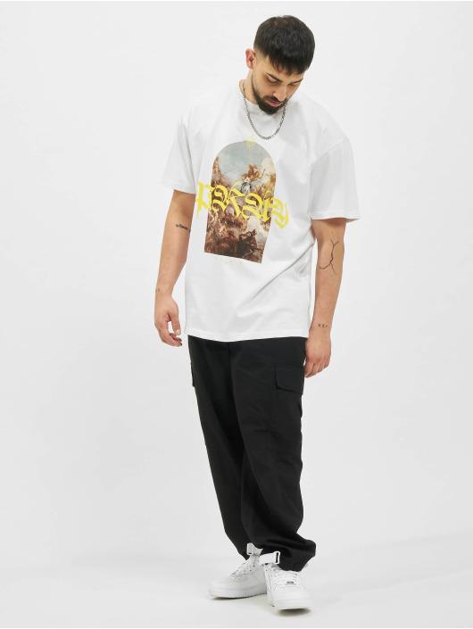 Mister Tee T-Shirt Pray Painting Oversize weiß
