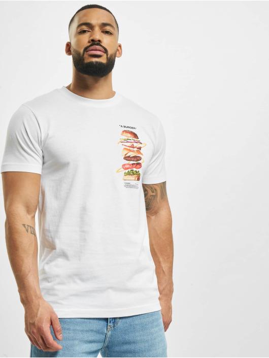 Mister Tee T-Shirt A Burger weiß