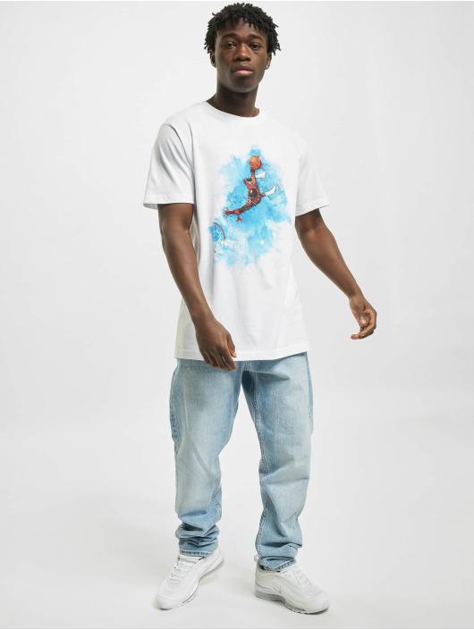 Mister Tee T-Shirt Basketball Clouds weiß
