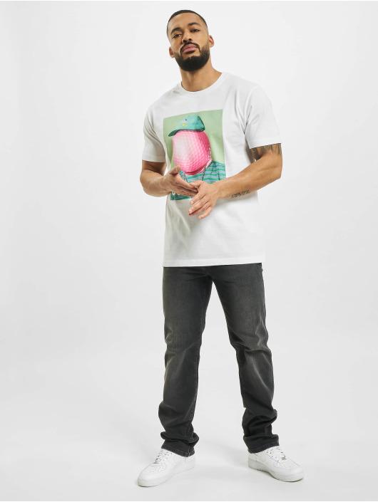 Mister Tee T-Shirt Golf Gang weiß