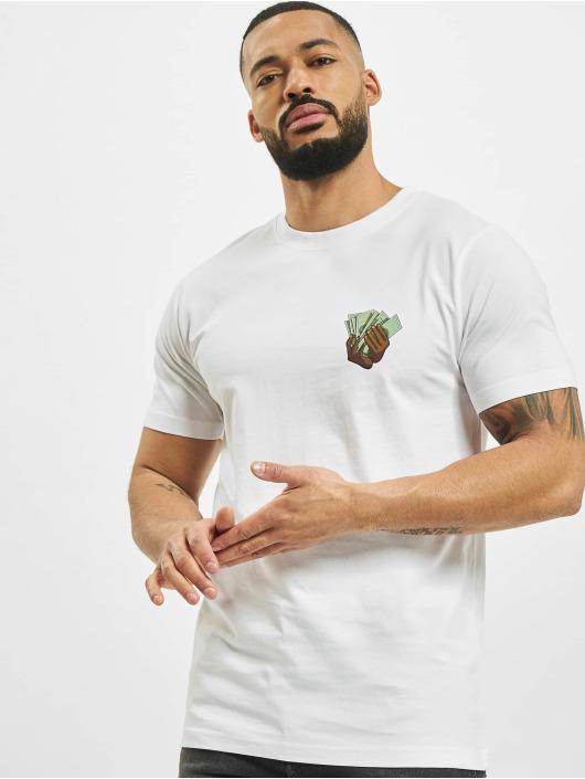 Mister Tee T-Shirt Make Money Not Friends weiß