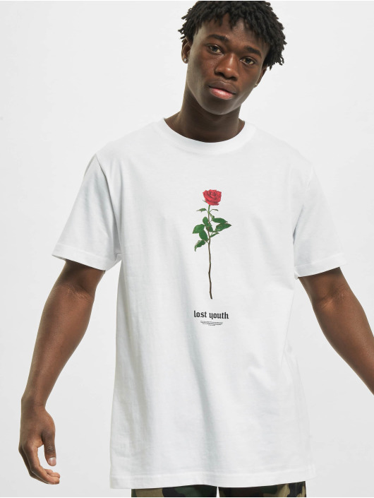 Mister Tee T-Shirt Lost Youth Rose weiß