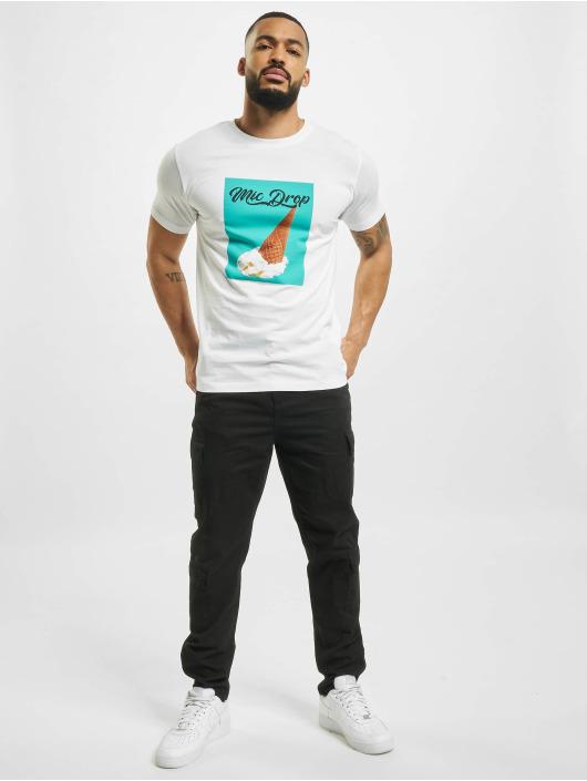 Mister Tee T-Shirt Mic Drop weiß
