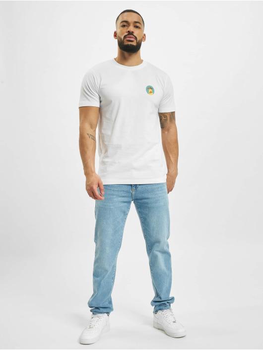 Mister Tee T-Shirt Ufo Pizza weiß
