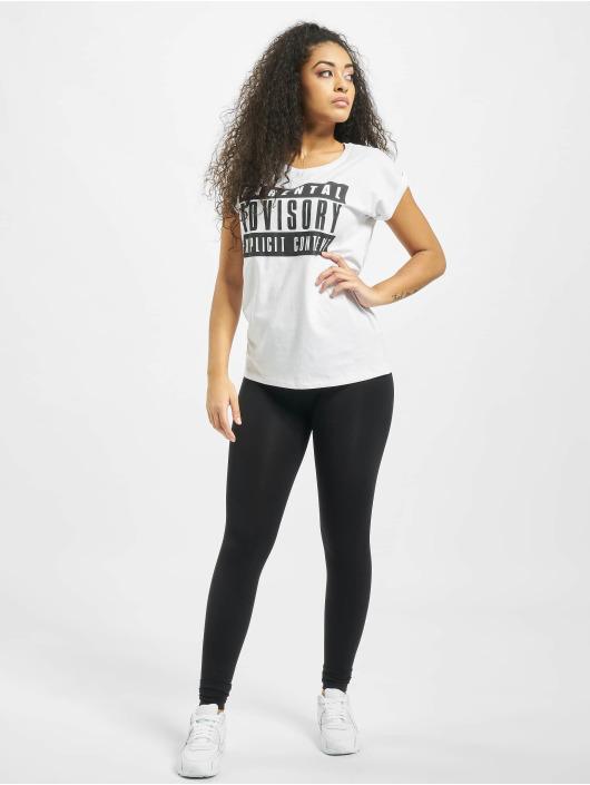 Mister Tee T-Shirt Ladies Parental Advisory white