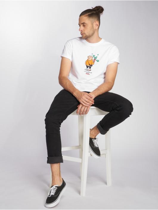 Mister Tee T-Shirt Bear Money white