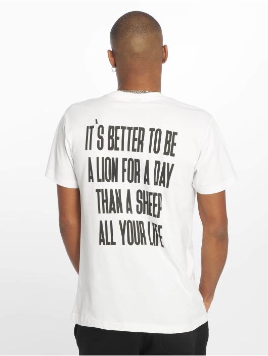 Mister Tee T-Shirt Lion Face white
