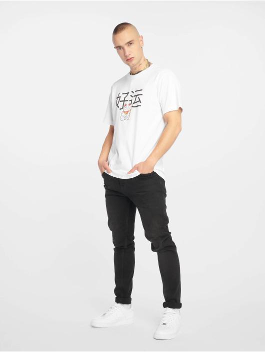 Mister Tee T-Shirt Waving Cat white