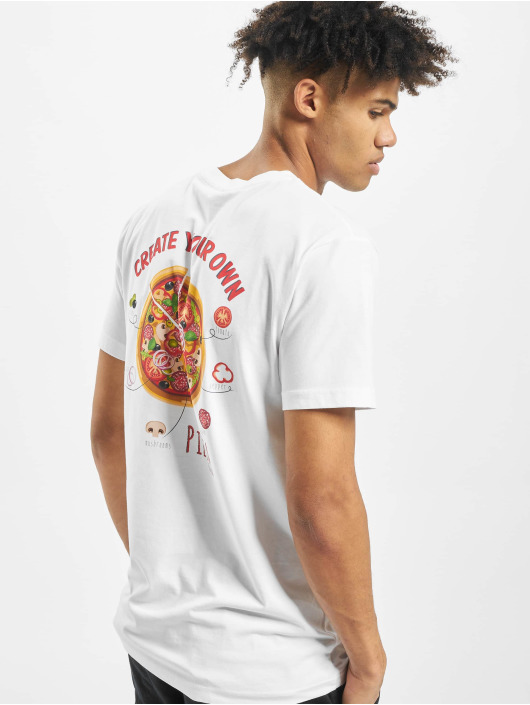 Mister Tee T-Shirt Create Your Pizza white