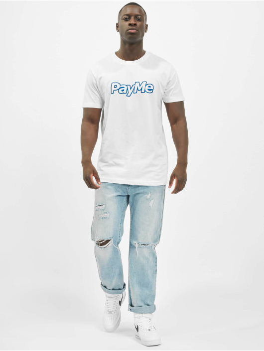 Mister Tee T-Shirt Pay Me Outline white