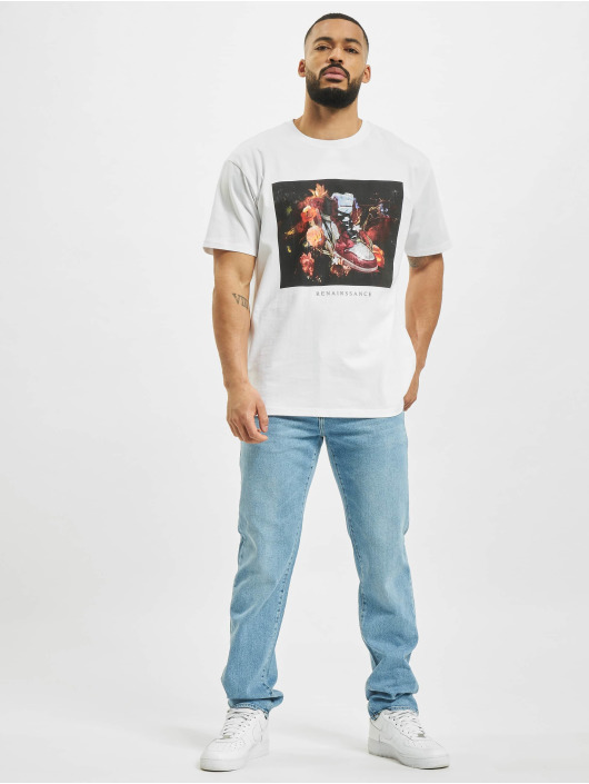 Mister Tee T-Shirt Renairssance Painting Oversize white
