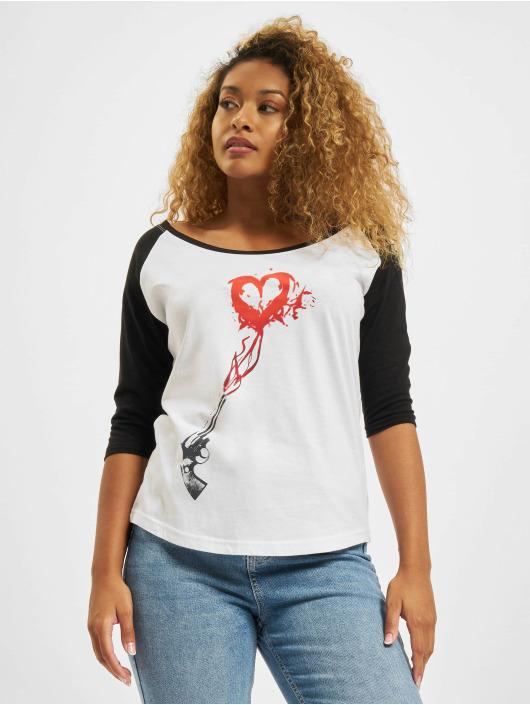 Mister Tee t-shirt Pistole Heart Raglan wit