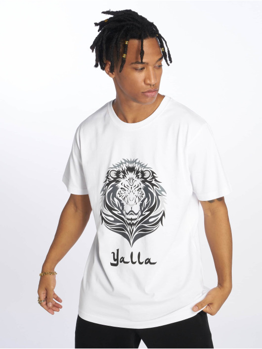 Mister Tee t-shirt Yalla Lion wit