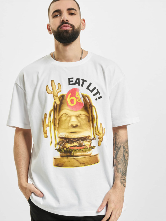 Mister Tee t-shirt Eat Lit Oversize wit