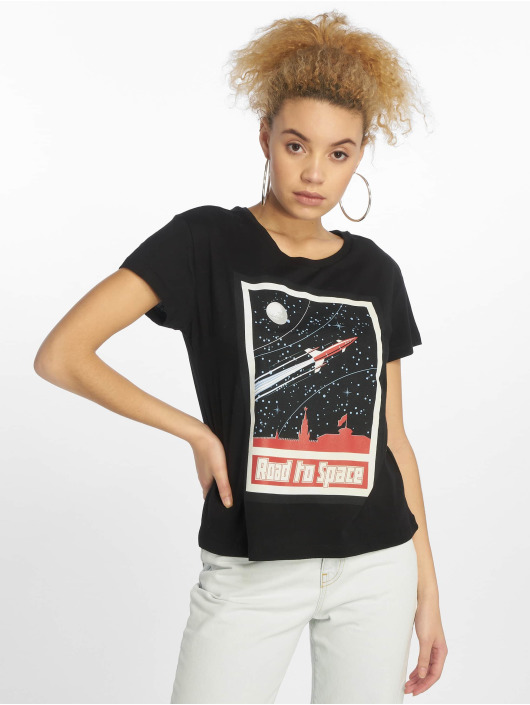 Mister Tee t-shirt Road To Space zwart