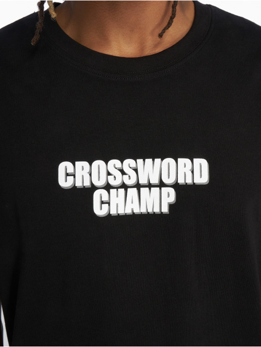 Mister Tee t-shirt Crossword Champ zwart