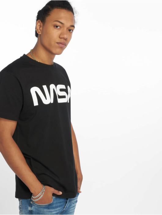 Mister Tee t-shirt Nasa Wormlogo zwart