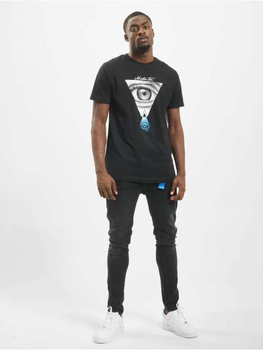 Mister Tee t-shirt Eyes zwart
