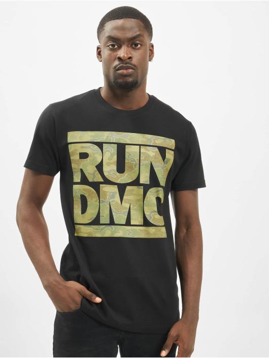 Mister Tee t-shirt Run DMC Camo zwart