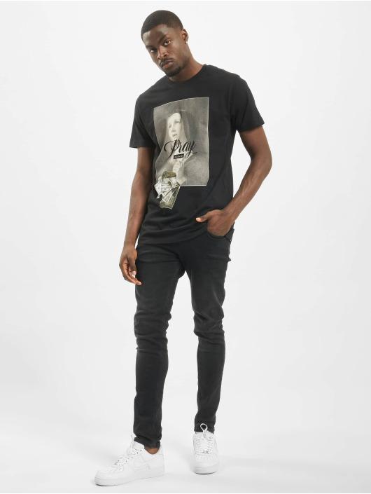 Mister Tee t-shirt Pray Dollar zwart