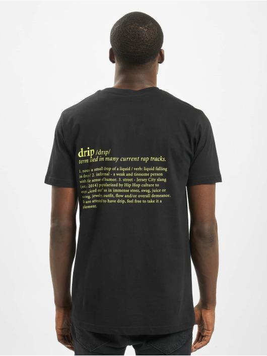Mister Tee t-shirt Drip zwart