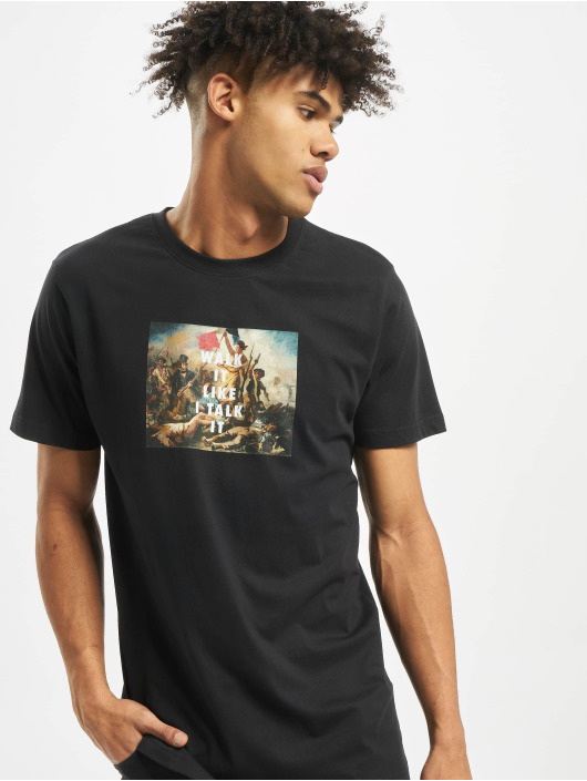 Mister Tee t-shirt Walk It zwart