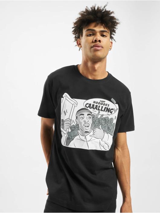 Mister Tee t-shirt Caaalling zwart