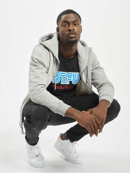 Mister Tee t-shirt STFU zwart